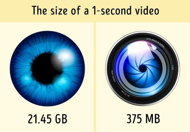 Một video ngắn 1s mà mắt người thu lại có độ lớn siêu khủng, 21.45 GB!