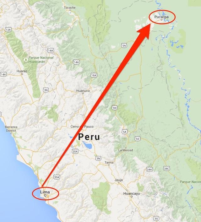 Juliane cùng mẹ đã bay từ Lima, Peru đến Pucallpa để gặp bố. (Ảnh: Internet)