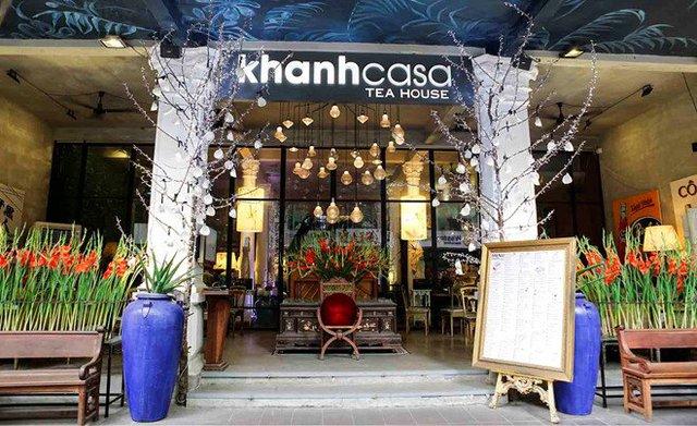 Cửa hàng trà nổi tiếng của Khánh Casa ở phố đi bộ Nguyễn Huệ. Ảnh: KCS.