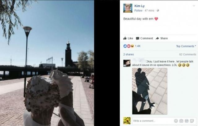 Kim Lý cũng đăng tải những bức ảnh tại Thụy Điển đầy ẩn ý.