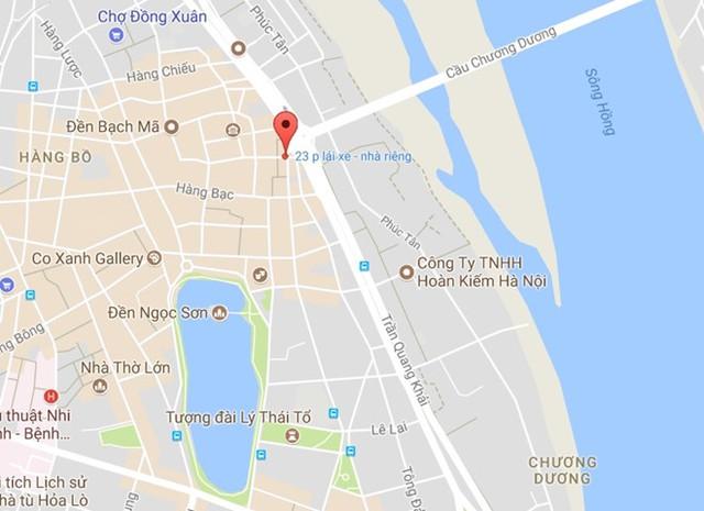Nơi xảy ra vụ việc (chấm đỏ). Ảnh: Google Maps.