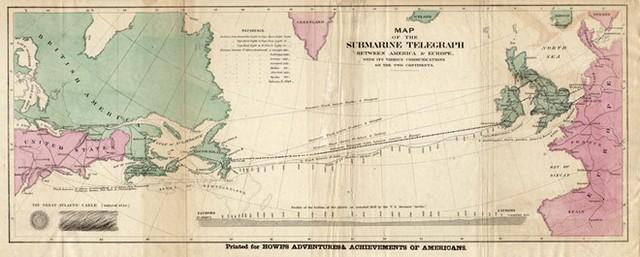 Đường truyền thông tin đầu tiên được lắp đặt cách đây 163 năm. Ảnh: Mentalflos.