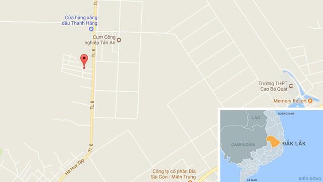 Khu vực phát hiện thanh niên tử vong. Ảnh: Google Maps.