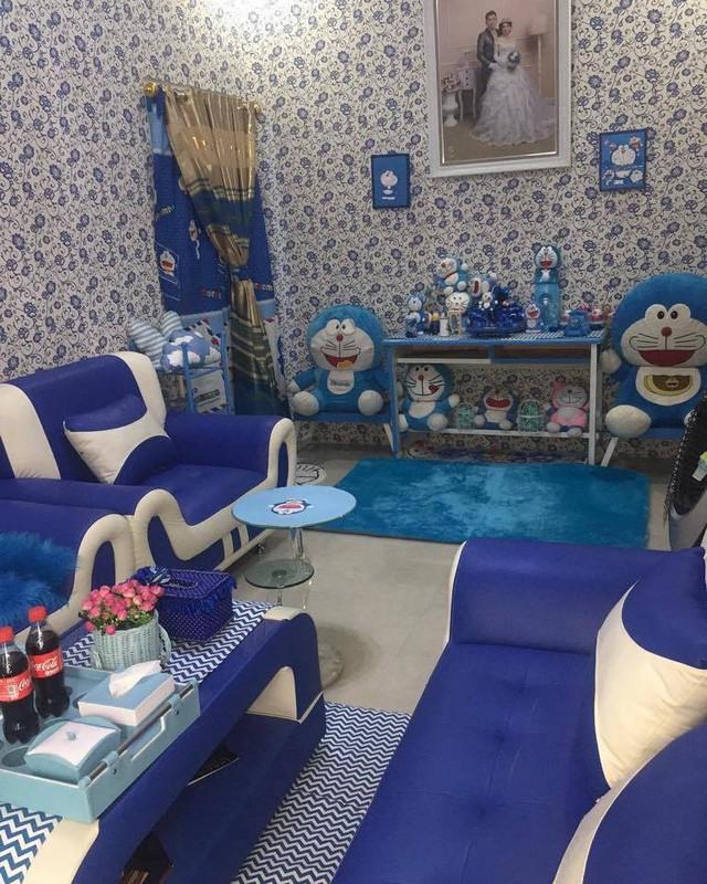 Căn nhà khiến người xem choáng váng vì ngập tràn Doraemon từ trên xuống dưới không thiếu một vật gì.
