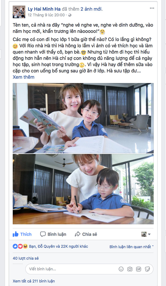 Bài đăng thú vị của Minh Hà nhận được rất nhiều lượt yêu thích, bình luận và chia sẻ