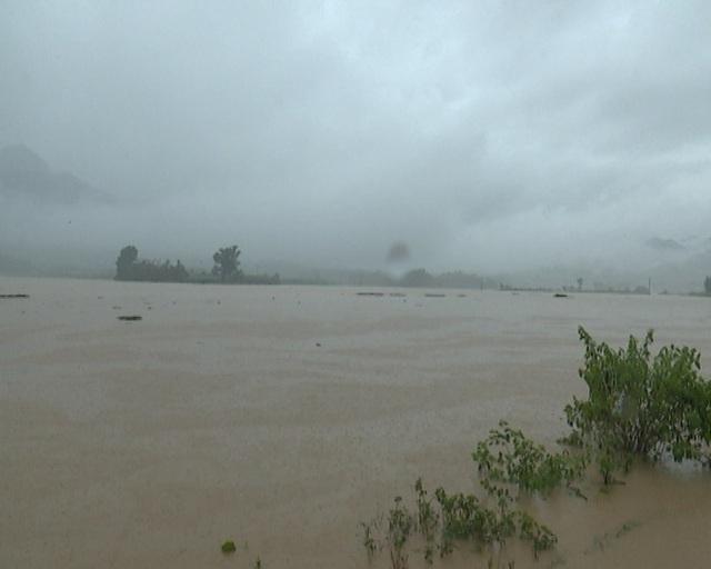 Tình trạng ngập do mưa lũ trên địa bàn tỉnh Hòa Bình. Ảnh: Hoabinh.gov.vn