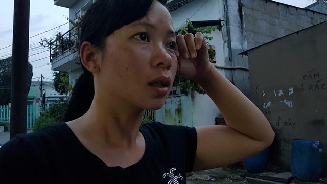 Chị Dương Thị Liễu ngậm ngùi kể lại sự cố đau lòng.