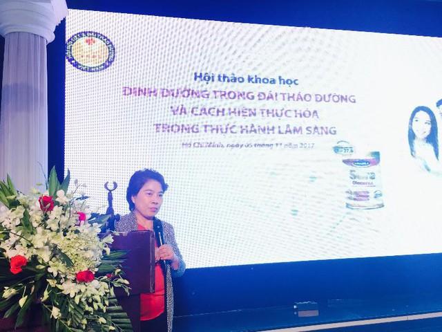PGS.TS.BS Nguyễn Thị Bích Đào khai mạc hội nghị khoa học Dinh dưỡng trong đái tháo đường và cách hiện thực hóa trong thực hành lâm sàng
