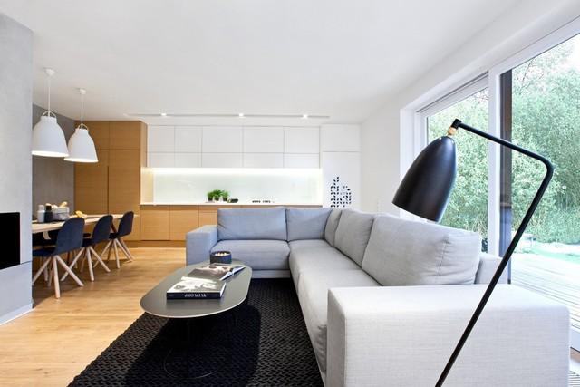 ... gồm một không gian sinh hoạt chính, 3 phòng ngủ và 2 công trình phụ. Không gian sinh hoạt chính gồm bếp và phòng khách, cách thiết kế rất phổ biến tại các căn hộ.