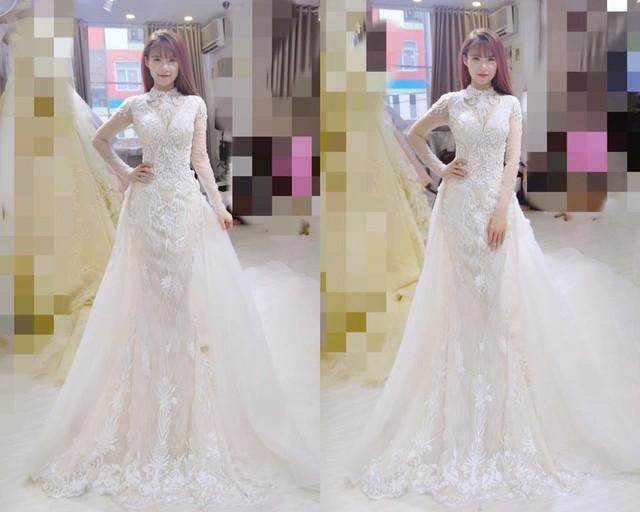 Hình ảnh Khởi My thử đồ cưới do tài khoản Kim Thịnh đăng tải hút sự quan tâm.