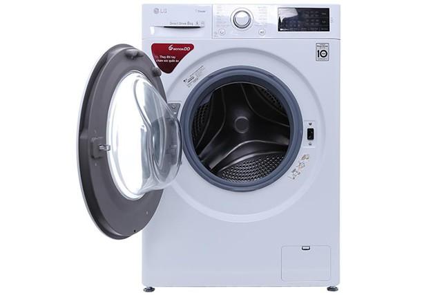 Chiếc máy giặt lồng ngang LG Inverter 8kg FC1408S4W2 mới nhất năm 2017 sử dụng động cơ truyền động trực tiếp