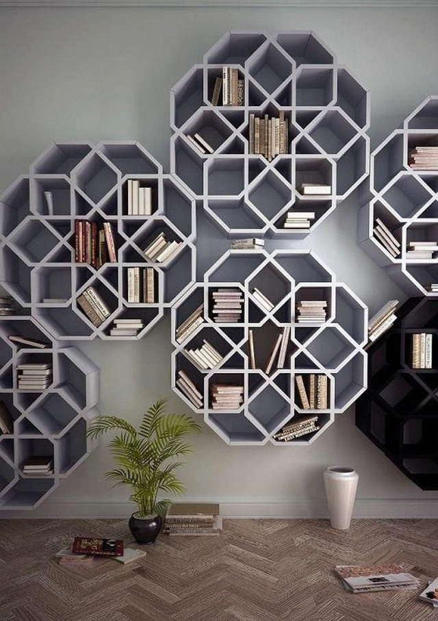 Ý tưởng mới mẻ trong thiết kế nội thất với giá sách