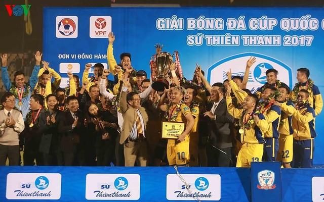 SLNA trở thành đội bóng giàu thành tích nhất cúp Quốc Gia với 3 chức vô địch (Ảnh: VOV)