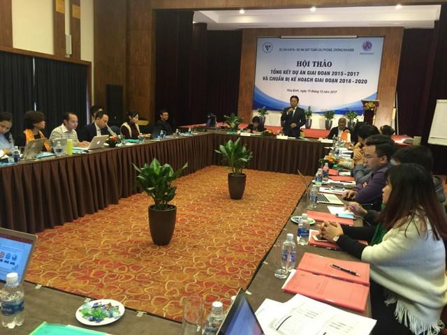 TSKH Nghiêm Vũ Khải – Phó Chủ tịch Liên hiệp các hội khoa học và kỹ thuật Việt Nam phát biểu khai mạc hội thảo.