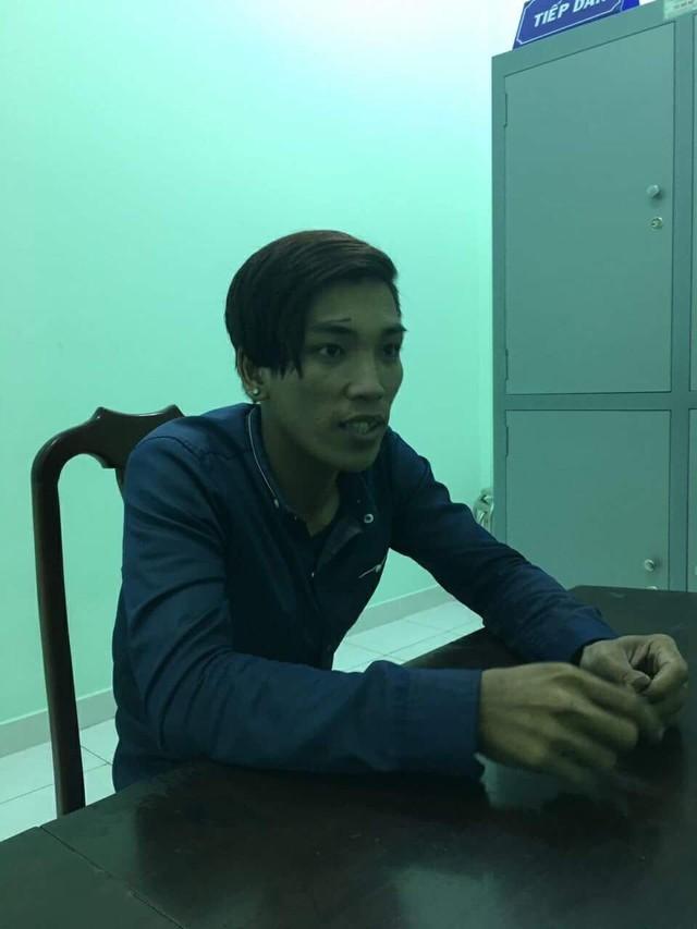 Tống Minh Vương tại trụ sở công an. Ảnh: C.T