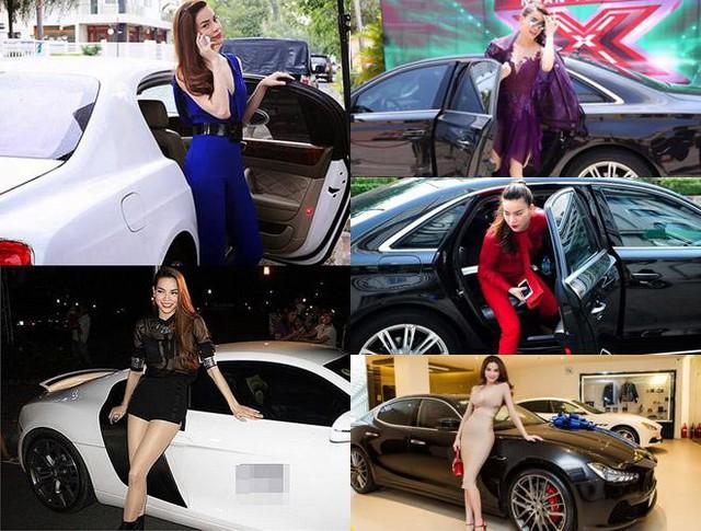 Có lẽ Hồ Ngọc Hà là nữ ca sĩ sở hữu nhiều siêu xe nhất trong làng giải trí Việt Nam. Chiếc xe giá thấp nhất được cô tậu vào năm 2011 là Lexus 2 tỷ đồng và chiếc đắt nhất là Porsche Panamera Turbo màu trắng có giá trị lên tới 10 tỷ đồng.