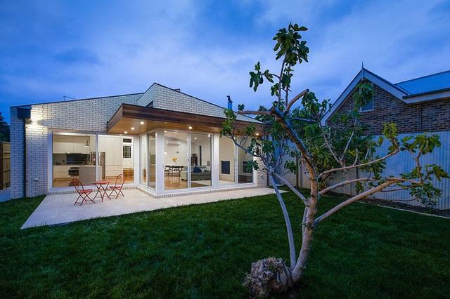 Với một gốc cây xanh trồng trước nhà thế này chẳng mấy chốc bóng râm của nó sẽ bao phủ được toàn không gian. Hòa mình vào thiên nhiên luôn là điều mà chủ nhân ngôi nhà này yêu thích.