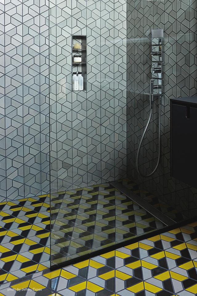 Ốp gạch lấy cảm hứng từ phong cách Mosaic.