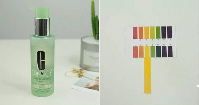 Clinique Liquid Facial Soap (500.000VNĐ/200ml) có độ pH 6 với kết cấu dạng gel và khả năng tạo bọt vừa phải, sản phẩm cũng có khả năng làm sạch bụi bẩn, bã nhờn mà không gây khô da.