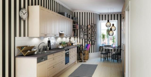 Một tấm thảm phù hợp sẽ tạo thành một dòng chảy đẹp trong trang trí, đưa ra một mô hình mạch lạc, tạo nên một chút cổ điển cho phòng ăn.