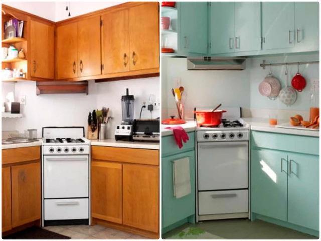 11. Sử dụng tủ màu trắng kết hợp tường trắng với tông tối hơn một chút, sự tương phản với các gam màu khác chưa đủ khiến căn bếp trở nên nhàm chán. Cách đơn giản của bạn đó là thay gạch ốp cho tường bếp, góc bếp không thay đổi nhiều nhưng vẫn đẹp một cách đầy cuốn hút.