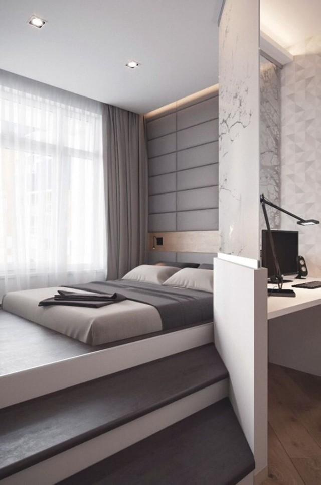 Bạn có thể ngăn cách giường với các khu vực chức năng khác để tăng tính riêng tư và sự tiện lợi khi sử dụng.