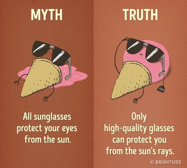 Kính mát chất lượng tốt có thể giúp bảo vệ đôi mắt bạn khỏi tia cực tím.