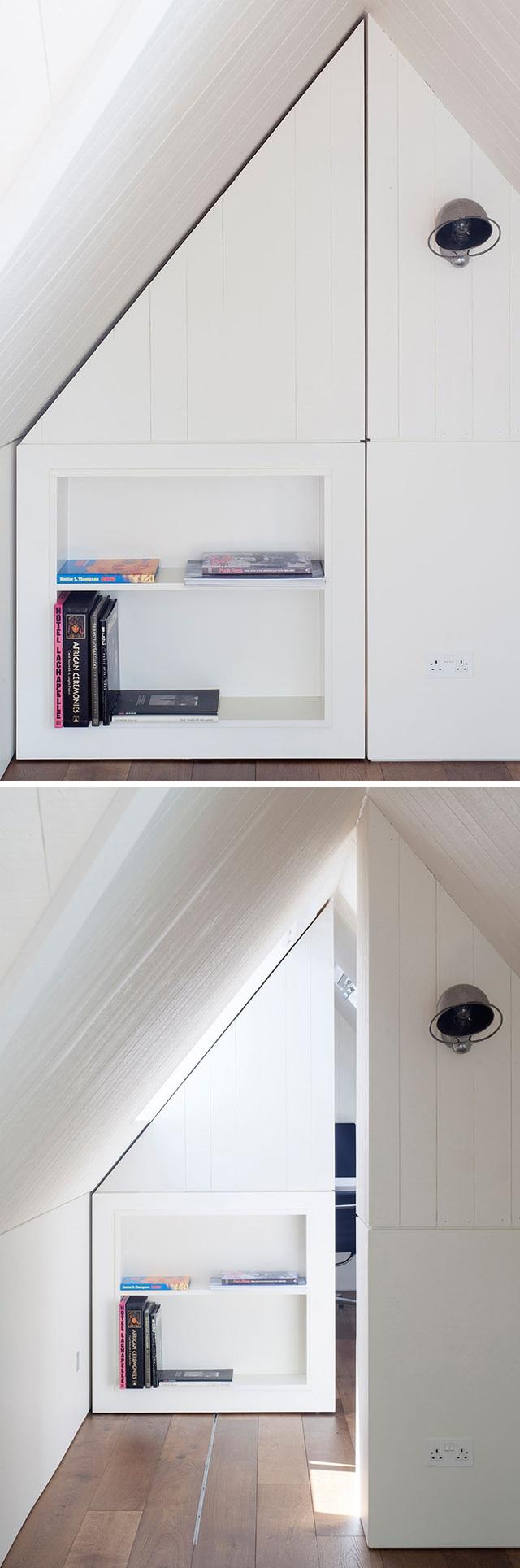 Cánh cửa bí mật như một trò ảo thuật của bạn trong cách thiết kế không gian sống.