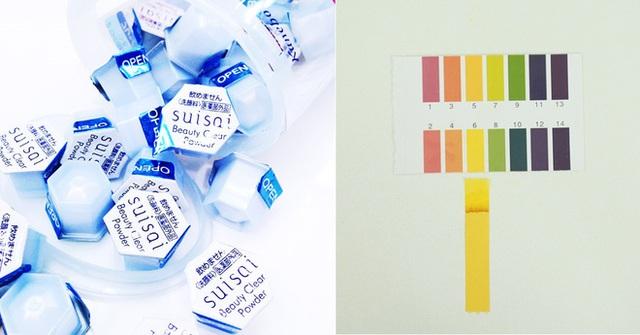 Bột rửa mặt Suisai ( 400.000VNĐ/hũ 32 hộp) có độ pH 6 với thành phần gồm các loại amino acid, enzyme giúp làm sạch bã nhờn, bụi bẩn, làm sáng da, kích thích sản sinh collagen.