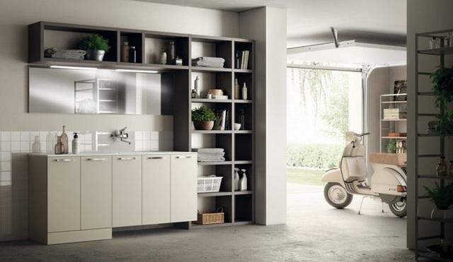 12. Chỉ với đơn giản một kệ và tủ thì bạn vẫn dư sức tạo được không gian hiện đại và tiện nghi như thế này đây.