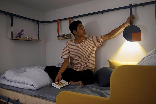 Căn hộ tí hon nhưng tiện nghi này là giải pháp giúp cho sinh viên sử dụng hiệu quả và tận dụng được hết không gian trong căn hộ, tận hưởng một cuộc sống đầy đủ, thoài mái.