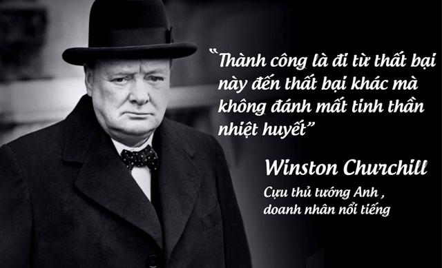 Cựu thủ tướng Anh , doanh nhân nổi tiếng Winston Churchill