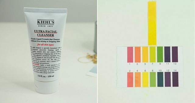 Kiehls Ultra Facial Cleanser (250.000VNĐ/75ml) có độ pH 7, dù sản phẩm có chứa nhiều chiết xuất thiên nhiên như dầu quả mơ, dầu trái bơ nhưng chỉ nên sử dụng cho làn da khỏe mạnh vì độ pH khá cao.