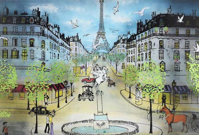 Những con phố châu Âu được tái hiện sống động dưới bút vẽ của ngài Jean.