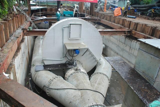 Hệ thống máy bơm thông minh có thể phân loại rác trước khi đổ nước ra sông Sài Gòn