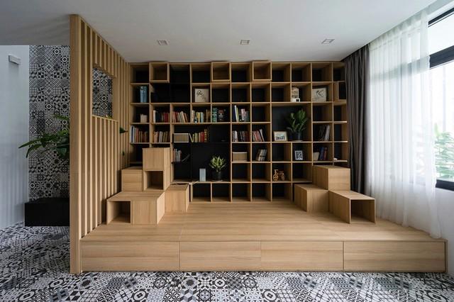Khu vực đọc sách của cả gia đình.