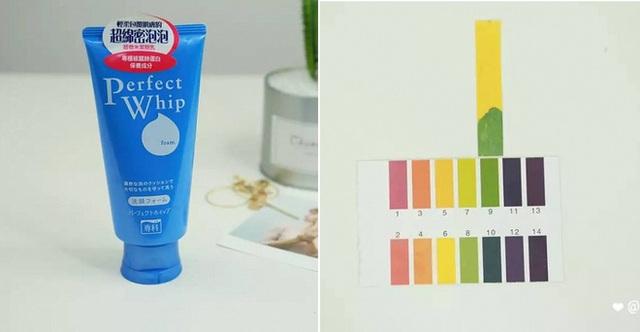 Shiseido Perfect Whip (150.000VNĐ/120g) có độ pH 9 sẽ khiến da bạn bị khô căng sau khi dùng.
