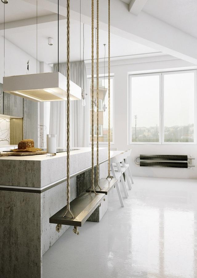 Một swing như một chỗ ngồi trong nhà bếp là một ý tưởng rất dễ thương và là cách để bạn thể hiện mình đang quan tâm đến ngôi nhà của mình đấy.