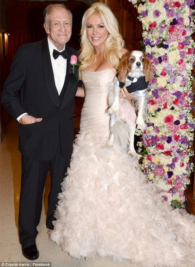 Crytal và ông Hefner kết hôn gây choáng vào thời điểm năm 2012 vì khoảng cách tuổi tác chênh lệch giữa hai người tới 60 tuổi.