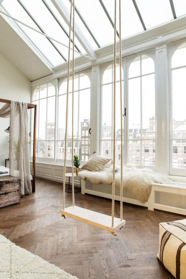 Làm cho phòng ngủ của bạn thoải mái hơn với một swing, ngay cả khi bạn không sử dụng nó thì sự có mặt của nó cũng là một điều đặc biệt rồi.