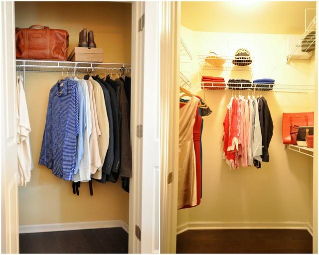 20. Ánh sáng từ hệ thống đèn không chỉ mang lại lợi ích về vấn đề thẩm mỹ, bên cạnh đó, một tủ quần áo có ánh sáng tốt sẽ giúp việc chọn đồ được dễ dàng hơn ở những góc tối nhất.