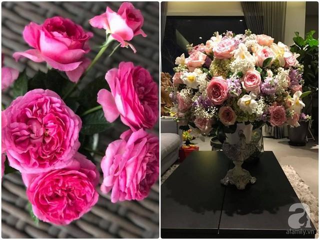 Vì yêu hoa nên ông xã của chị cũng thường mua hồng tặng vợ.