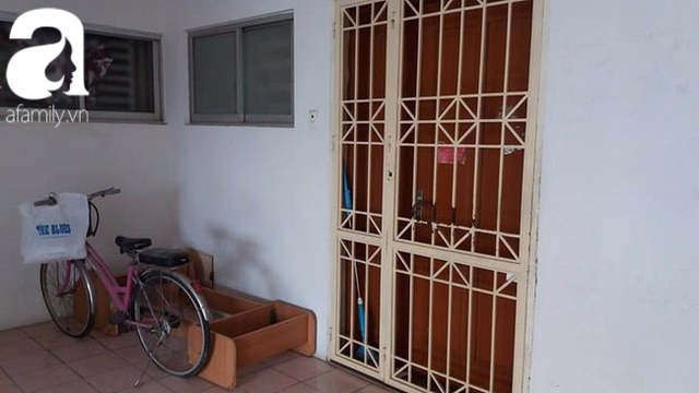 Căn hộ của chị N. vẫn đóng cửa và không có người ra vào (ảnh chụp ngày 11/10)