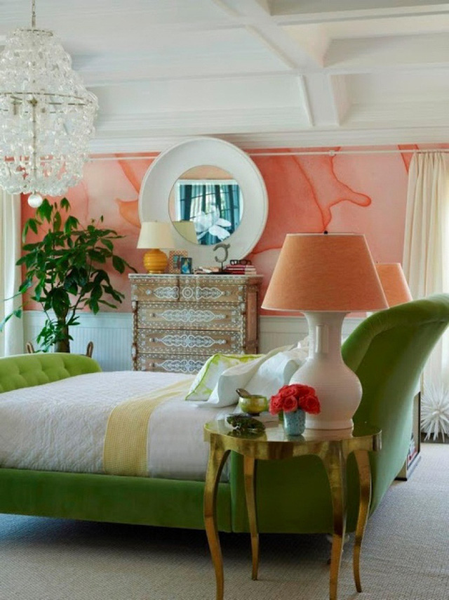 Kiểu sơn tường màu nước không quá cầu kỳ song lại tạo được hiệu quả thẩm mỹ rất cao.
