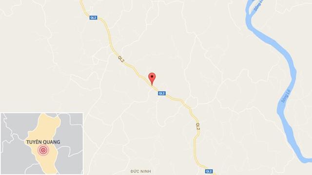 Chấm đỏ nơi xảy ra tai nạn: Ảng: Google Maps.