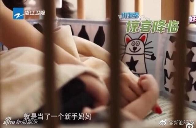 Hình ảnh bé trai nhà Angelababy và Huỳnh Hiểu Minh. Ảnh: Sina.
