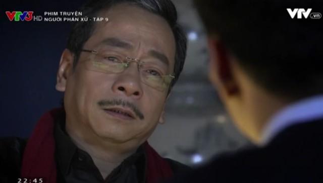 Phan Quân giữ vẻ mặt lạnh lùng khi Lê Thành đặt câu hỏi về người cha thất lạc.