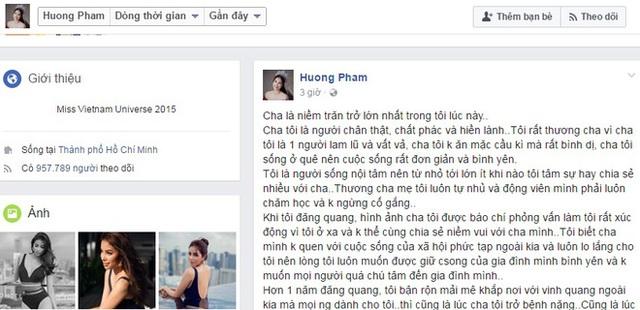 Nguyên văn bức tâm thư nhân Ngày của Cha của Phạm Hương.