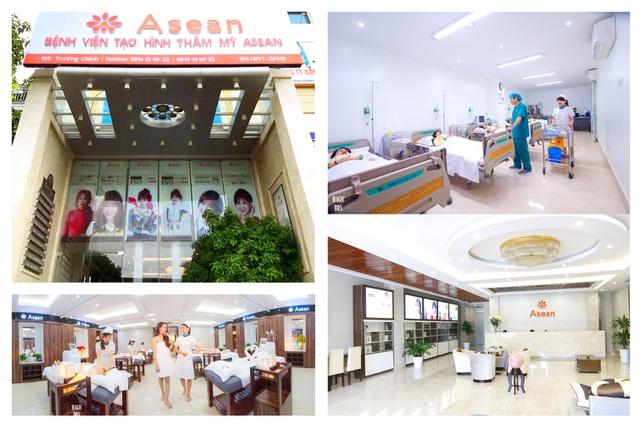 Tọa lạc tại 190 Trường Chinh – Hà Nội, Bệnh viện Tạo hình thẩm mỹ Asean được thiết kế theo các phân khu chức năng riêng biệt, với không gian sang trọng, đẳng cấp.