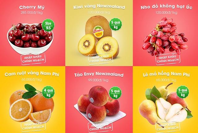 Đa dạng các loại hoa quả tươi nhập khẩu từ Mỹ, Newzealand, Úc, Nam phi…